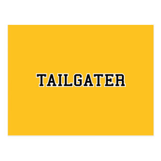 Tailgater Jersey Font - Any Team Colors Postcards