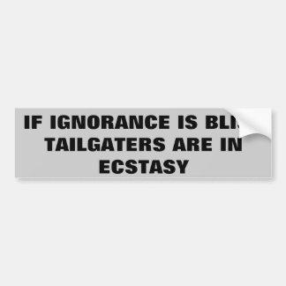 Tailgaters Ecstasy Bumper Sticker
