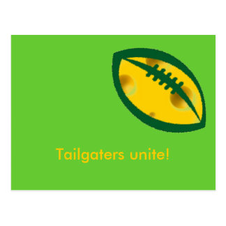tailgaters of wisconsin postcard