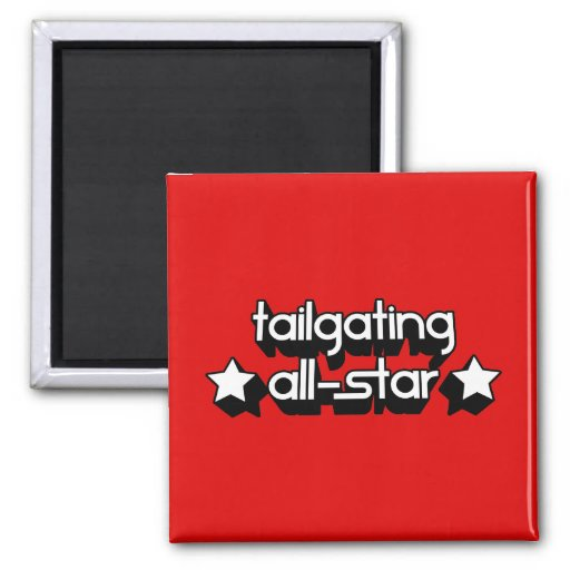 Tailgating All-Star in Any Team Colors Fridge Magnets