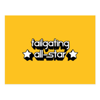 Tailgating All-Star in Any Team Colors Postcard