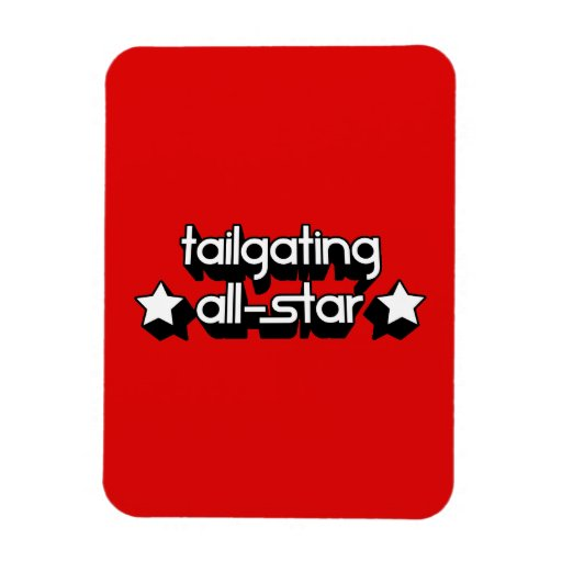 Tailgating All-Star in Any Team Colors Flexible Magnets