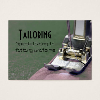 tailor, tailoring business card