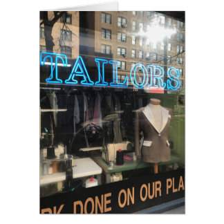 Tailor's Shop Window New York City Photography Card