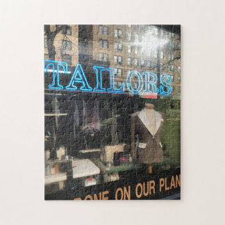 Tailor's Shop Window New York City Photography Jigsaw Puzzle
