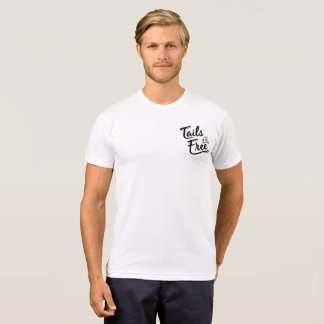 Tails of the Free basic white Tee