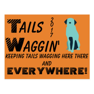 Tails Waggin' Charity postcard (summer range)