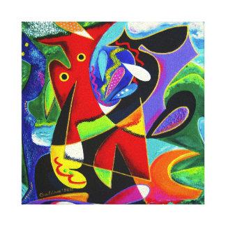 Taino Dance, Puerto Rico Art Canvas Print