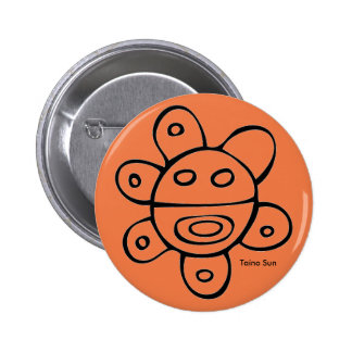 Taino Sun Round Button
