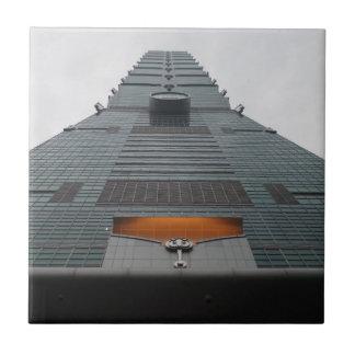 "Taipei101 Small (4.25"" x 4.25"") Ceramic Photo Tile"