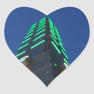 Taipei 101 at Night Heart Sticker