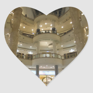 Taipei 101 Inside View Heart Sticker