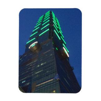 """Taipei 101 Night View 3""""x4"""" Magnet"""