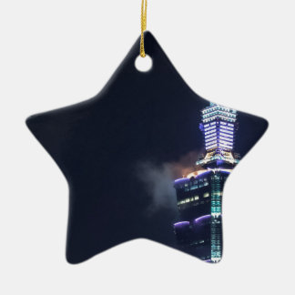 Taipei 101 Tower in Taiwan, Closeup Ceramic Star Ornament