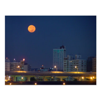 Taipei Night Moon Postcard