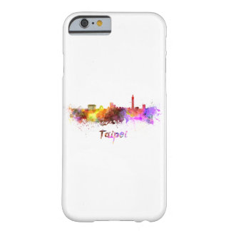 Taipei skyline in watercolor barely there iPhone 6 case