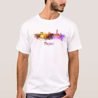 Taipei skyline in watercolor T-Shirt
