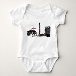 Taipei Taiwan Baby Jersey Bodysuit