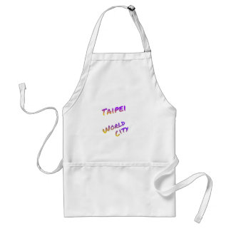 Taipei world city, colorful text art standard apron