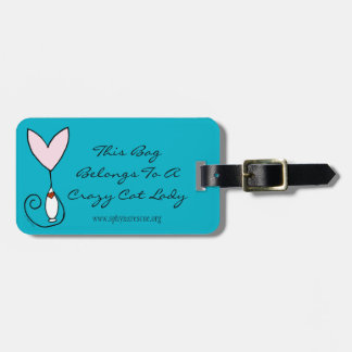 Tai's Sphynx Angel CUSTOMIZABLE Luggage Tag
