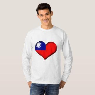 Taiwan (Chinese Taipei) Heart Flag T-Shirt