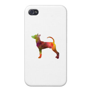 Taiwan Dog in watercolor iPhone 4 Cases