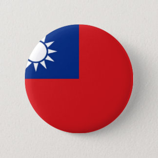 Taiwan Flag 2 Inch Round Button
