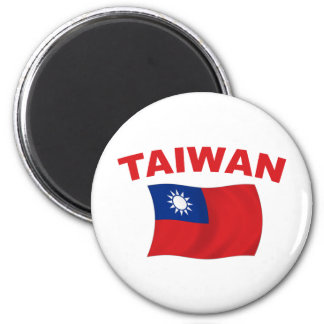 Taiwan Flag 3 2 Inch Round Magnet