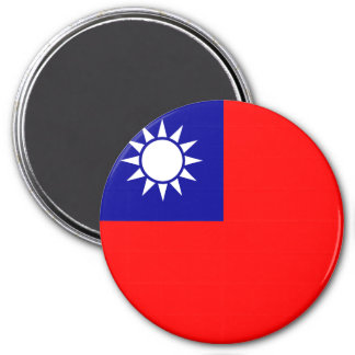 Taiwan Flag 3 Inch Round Magnet