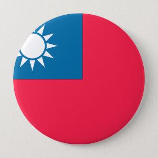 Taiwan Flag 4 Inch Round Button