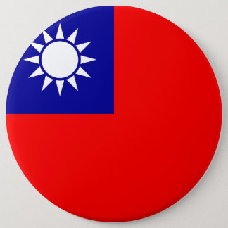 Taiwan Flag 6 Inch Round Button