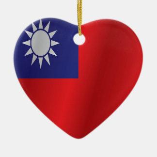 Taiwan flag ceramic ornament
