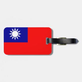 Taiwan Flag Luggage Tag