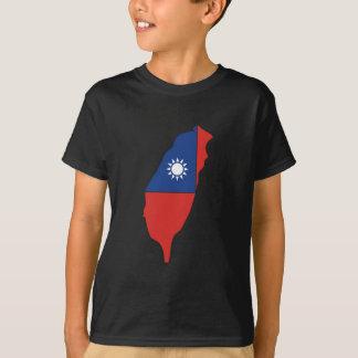 Taiwan Flag Map full size T-Shirt