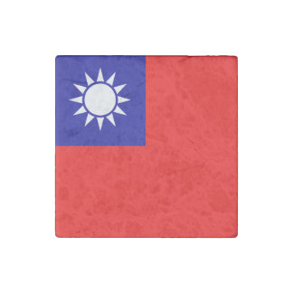 Taiwan Flag Stone Magnets