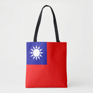 Taiwan Flag Tote Bag