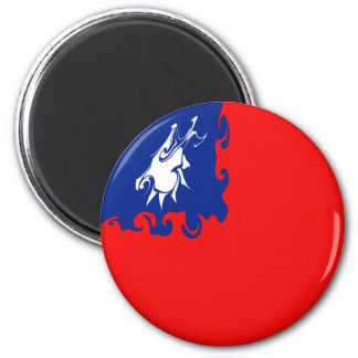 Taiwan Gnarly Flag 2 Inch Round Magnet