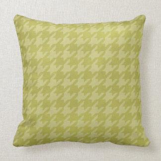 Taiwan Green Houndstooth Throw Pillow