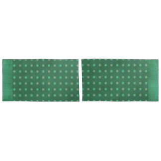 Taiwan Green Polka Dot Reversible Pillowcase
