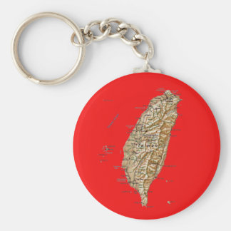 Taiwan Map Keychai Keychain
