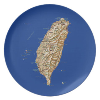 Taiwan Map Plate
