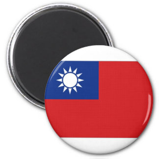 Taiwan National Flag 2 Inch Round Magnet