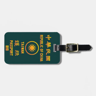 Taiwan Passport Luggage Tag