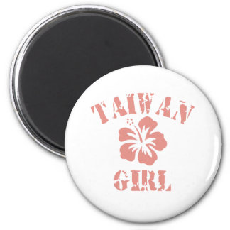 Taiwan Pink Girl 2 Inch Round Magnet