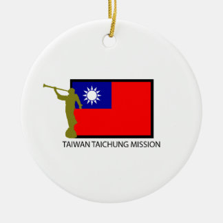 TAIWAN TAICHUNG MISSION LDS CTR ROUND CERAMIC ORNAMENT