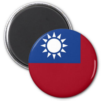 Taiwan Taiwanese flag 2 Inch Round Magnet