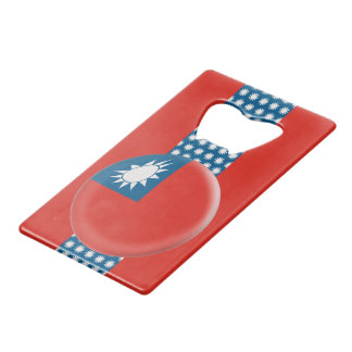 Taiwan Taiwanese Flag Credit Card Bottle Opener