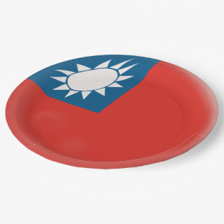 Taiwan Taiwanese Flag Paper Plate