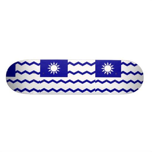 Taiwan Tax Office, China flag Custom Skateboard