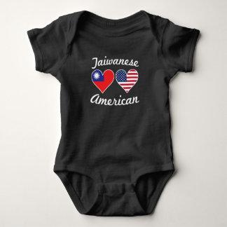 Taiwanese American Flag Hearts Baby Bodysuit